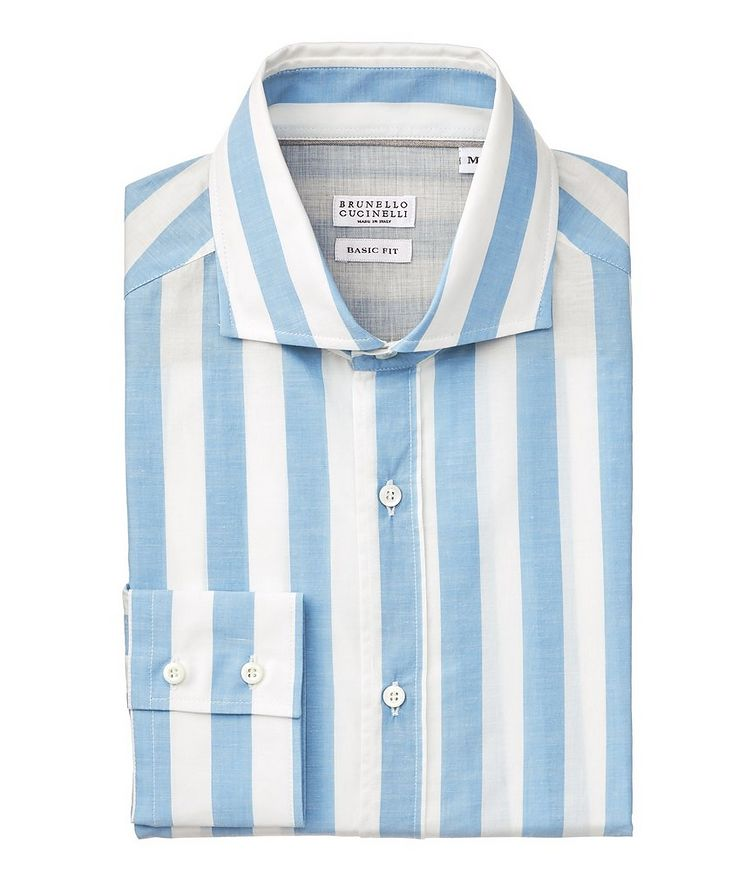 Contemporary-Fit Striped Cotton Shirt image 0