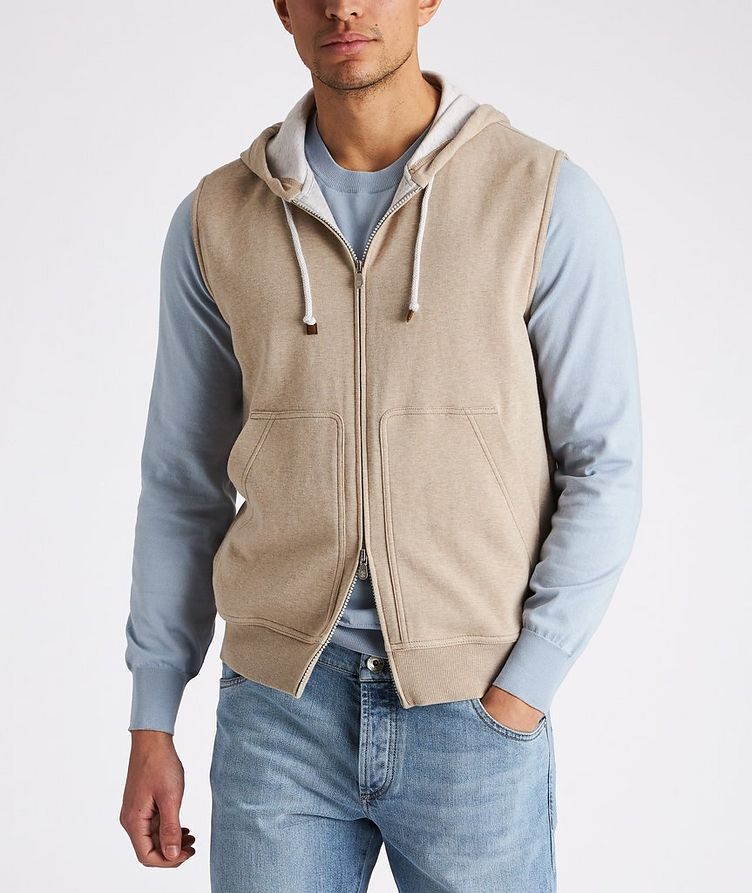 Zip-Up Hooded Vest image 1
