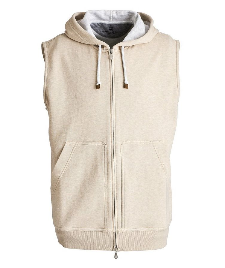 Zip-Up Hooded Vest image 0