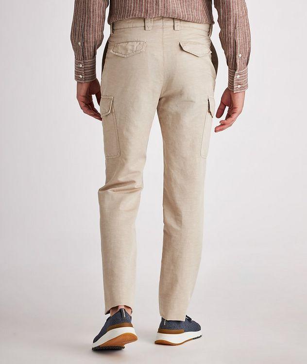 Leisure Fit Linen-Cotton Cargo Pants picture 3