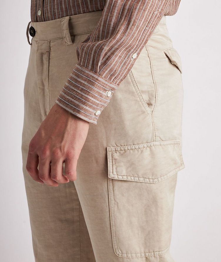 Leisure Fit Linen-Cotton Cargo Pants image 3