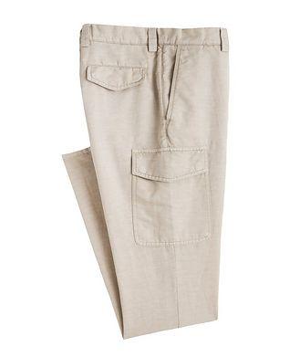 Brunello Cucinelli Leisure Fit Linen-Cotton Cargo Pants