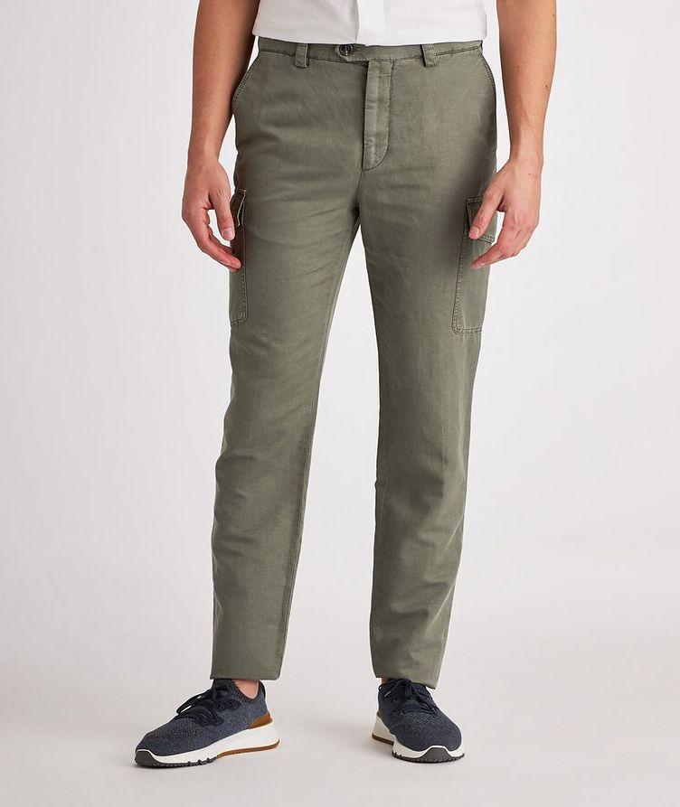 Leisure Fit Linen-Cotton Cargo Pants image 1