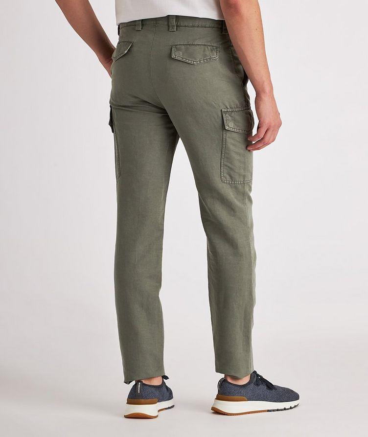 Leisure Fit Linen-Cotton Cargo Pants image 2