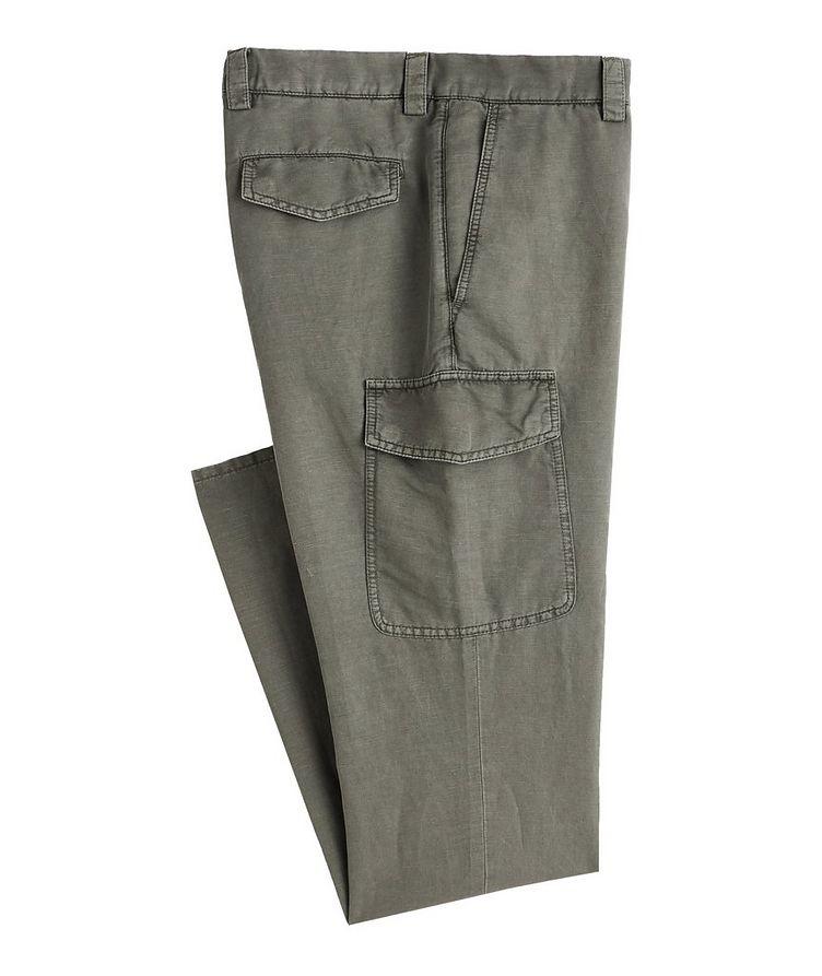 Leisure Fit Linen-Cotton Cargo Pants image 0