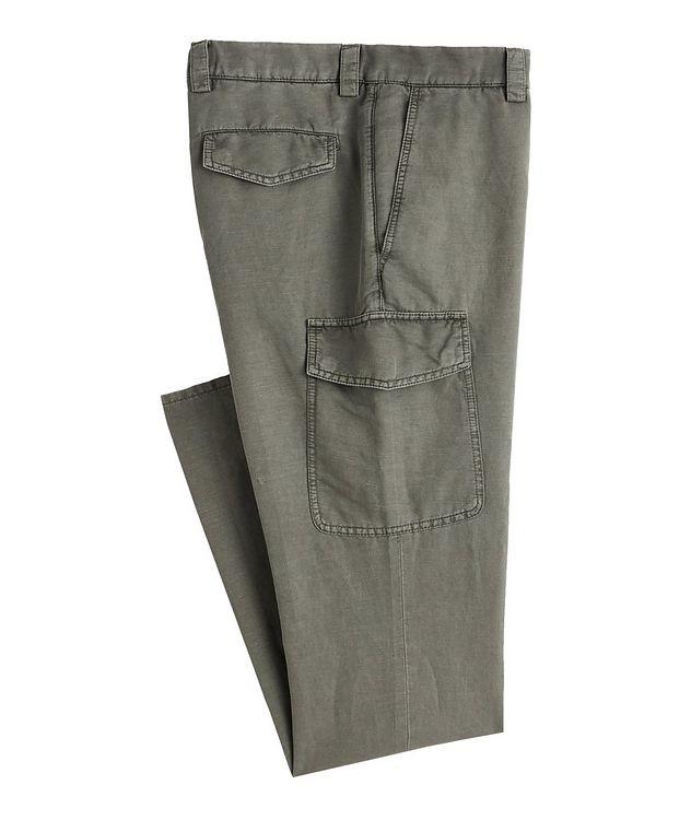 Leisure Fit Linen-Cotton Cargo Pants picture 1
