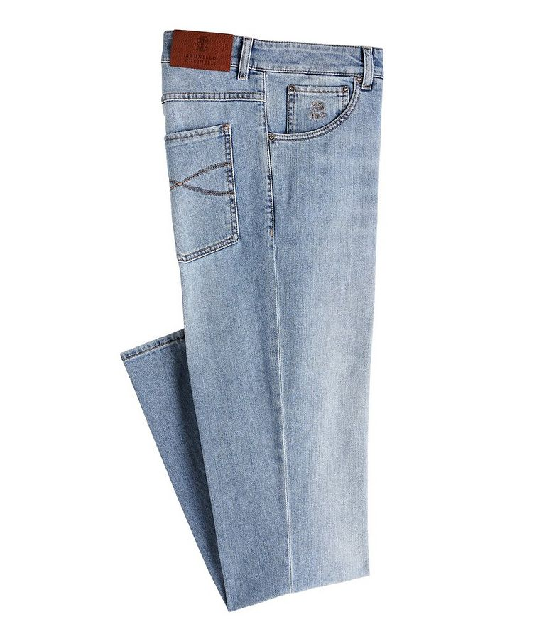 Skinny-Fit Stretch-Cotton Jeans image 0