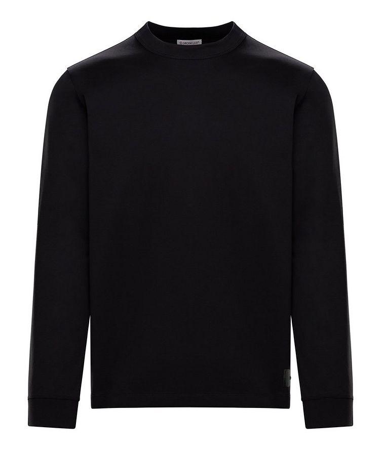 T-shirt en jersey de coton à manches longues image 0