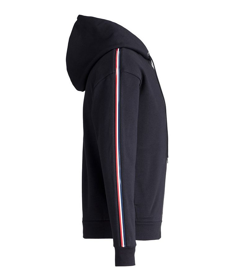 Zip-Up Tricolour Logo-Tape Hoodie image 2