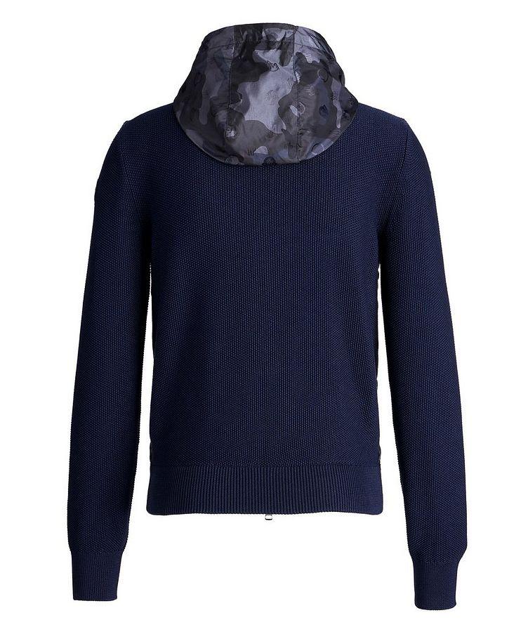 Hooded Goose-Down Zip-Up Cardigan image 1