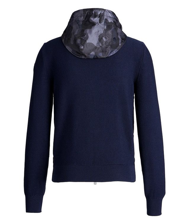 Hooded Goose-Down Zip-Up Cardigan picture 2