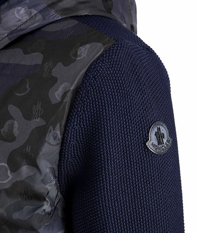 Hooded Goose-Down Zip-Up Cardigan picture 4