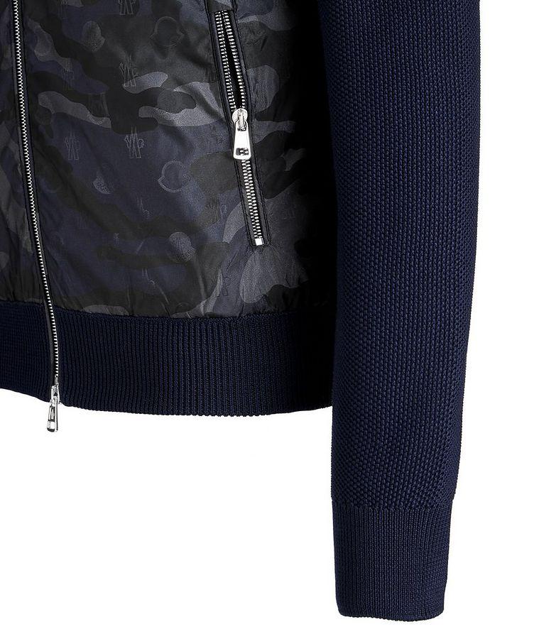 Hooded Goose-Down Zip-Up Cardigan image 4