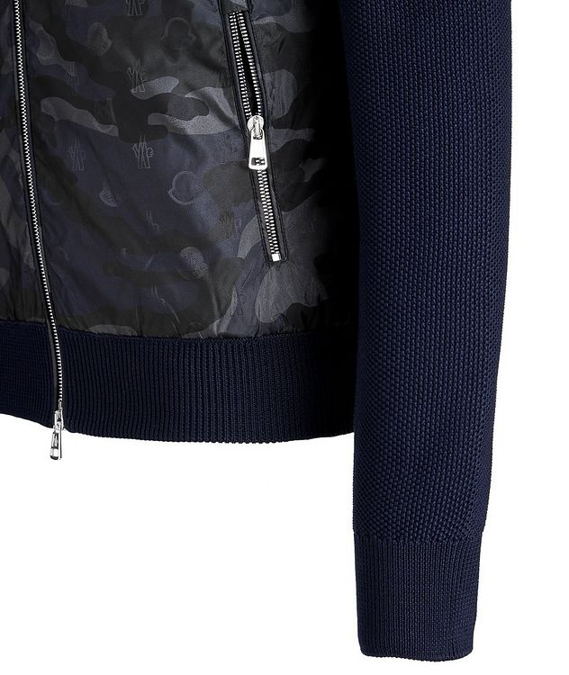 Hooded Goose-Down Zip-Up Cardigan picture 5
