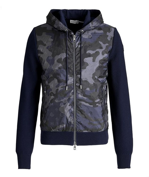 Hooded Goose-Down Zip-Up Cardigan picture 1