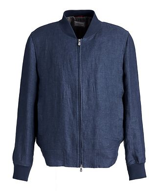 Brunello Cucinelli Linen Bomber Jacket