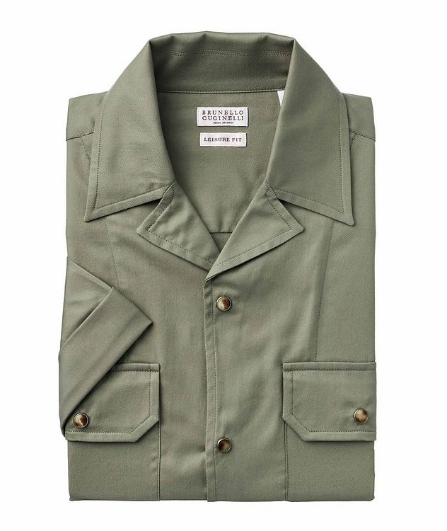 Short-Sleeve Cotton Safari Shirt picture 1