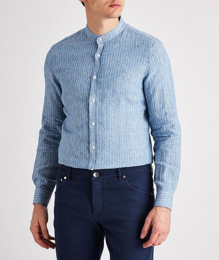 Striped Linen-Blend Shirt image 1