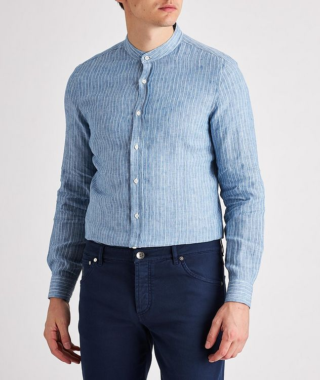 Striped Linen-Blend Shirt picture 2