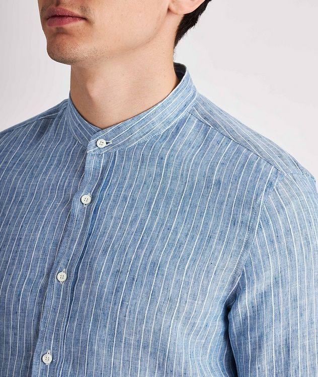 Striped Linen-Blend Shirt picture 4