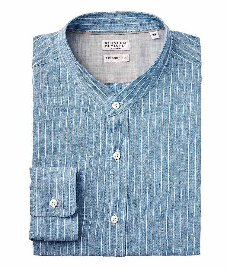 Striped Linen-Blend Shirt image 0