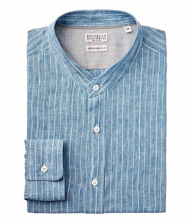 Striped Linen-Blend Shirt picture 1