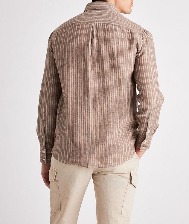 Contemporary-Fit Striped Linen-Blend Shirt picture 3