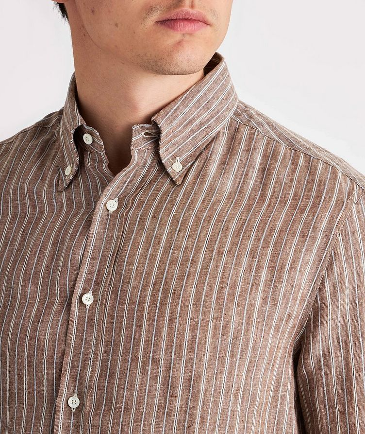 Contemporary-Fit Striped Linen-Blend Shirt image 3