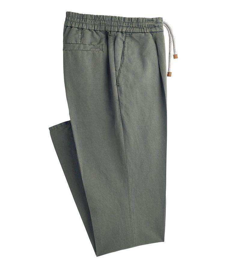 Linen-Cotton Drawstring Pants image 0