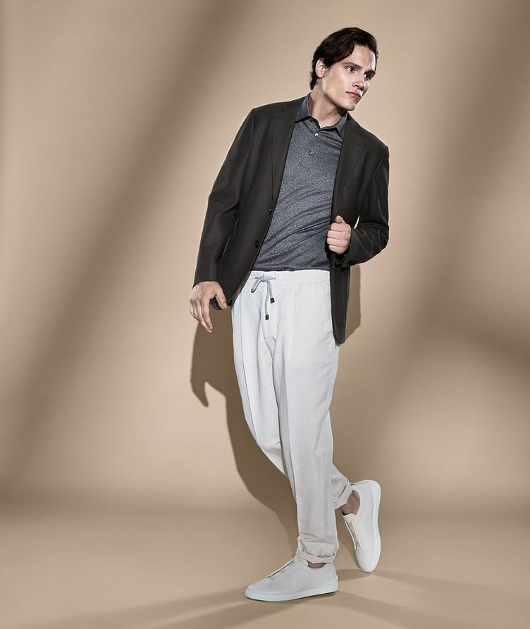 Drawstring Linen-Cotton Trousers image 1