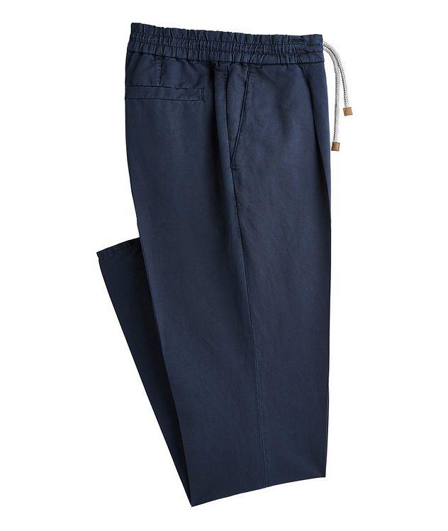 Drawstring Linen-Cotton Trousers picture 1