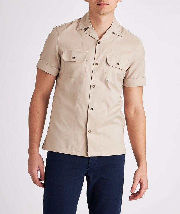 Short-Sleeve Cotton Safari Shirt image 1