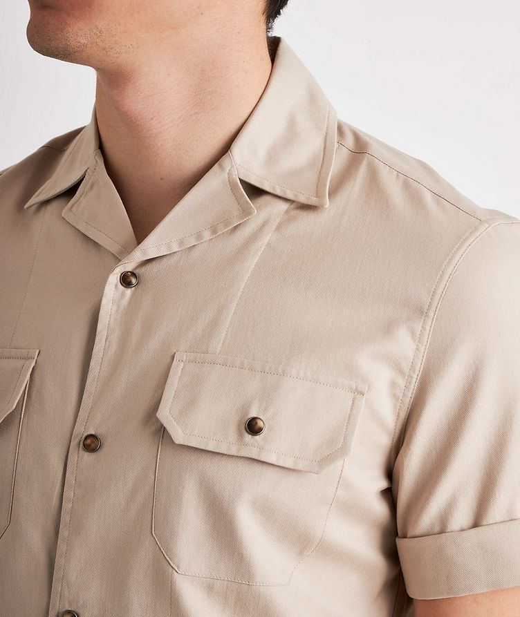 Short-Sleeve Cotton Safari Shirt image 3