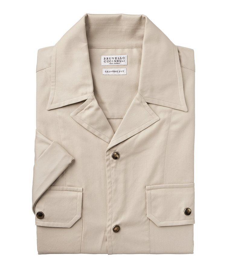Short-Sleeve Cotton Safari Shirt image 0