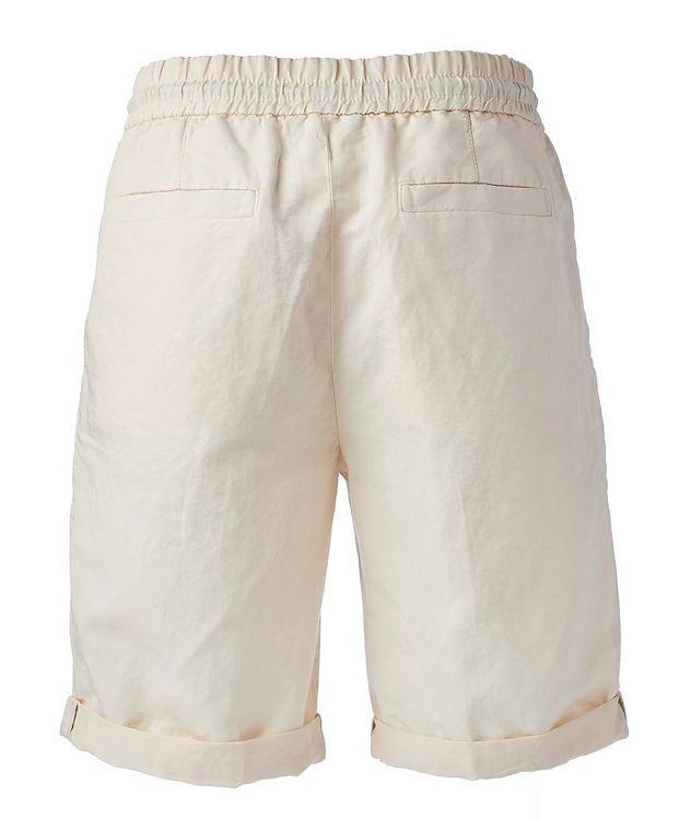 Linen-Cotton Drawstring Shorts picture 2