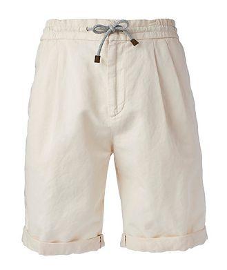 Brunello Cucinelli Linen-Cotton Drawstring Shorts
