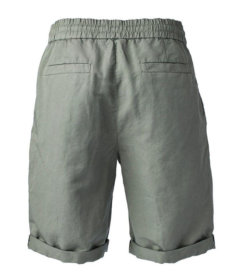 Linen-Cotton Drawstring Shorts image 1