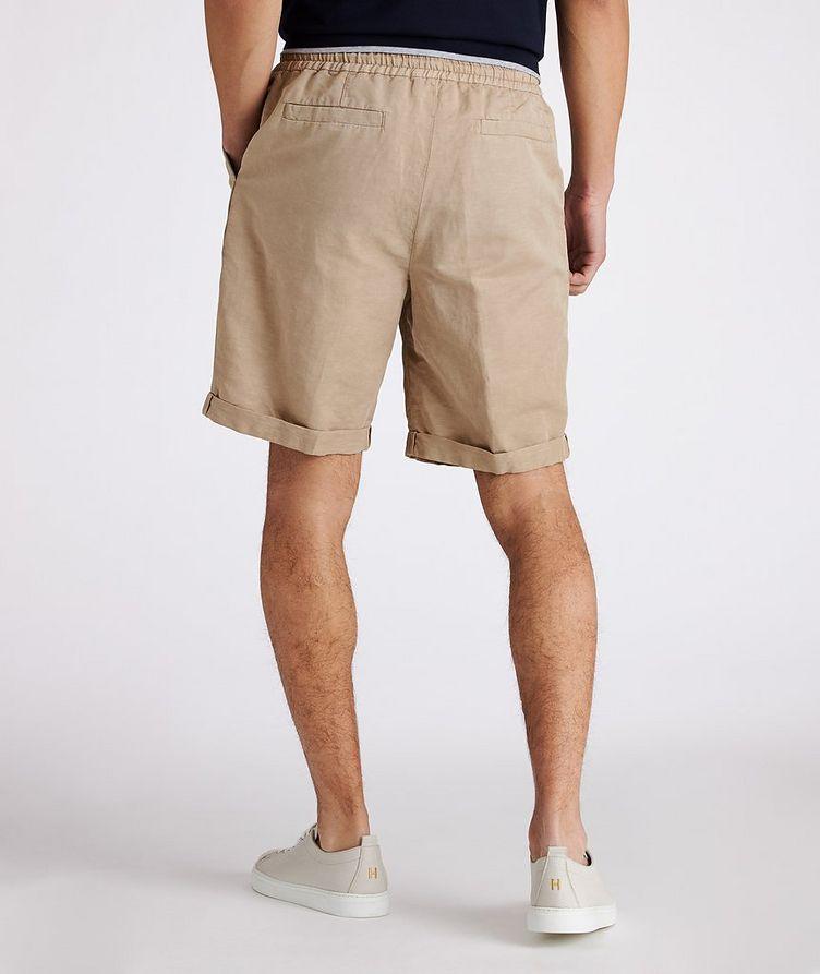 Linen-Cotton Drawstring Shorts image 2