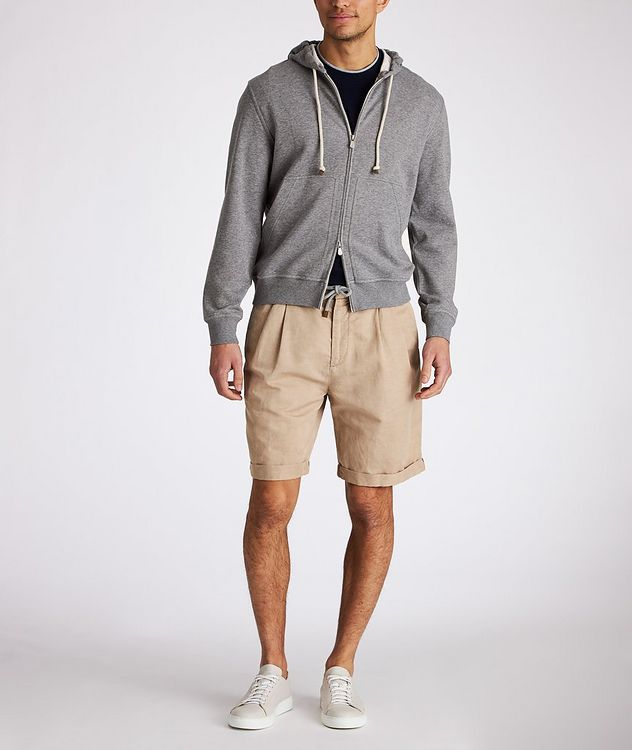 Linen-Cotton Drawstring Shorts picture 4