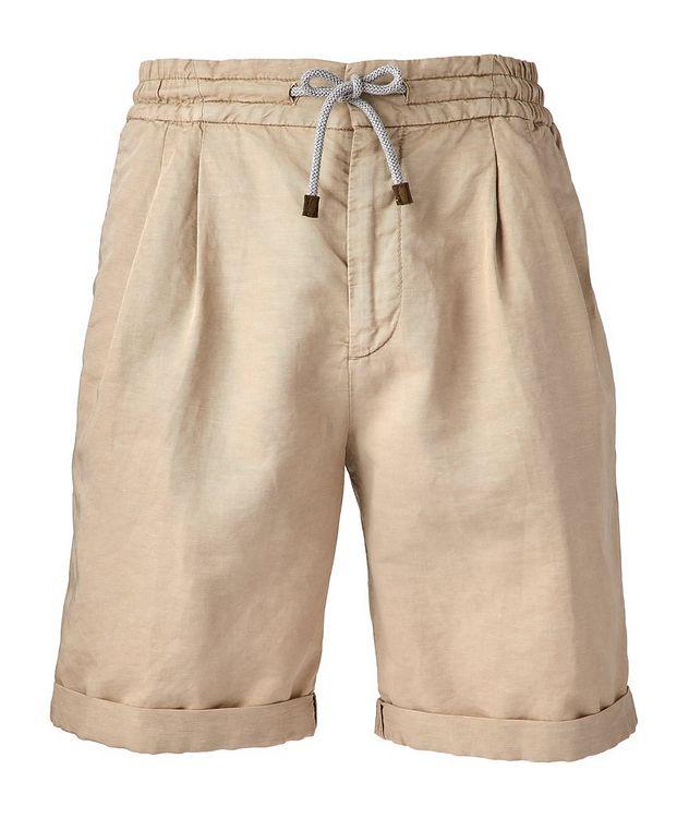 Linen-Cotton Drawstring Shorts picture 1