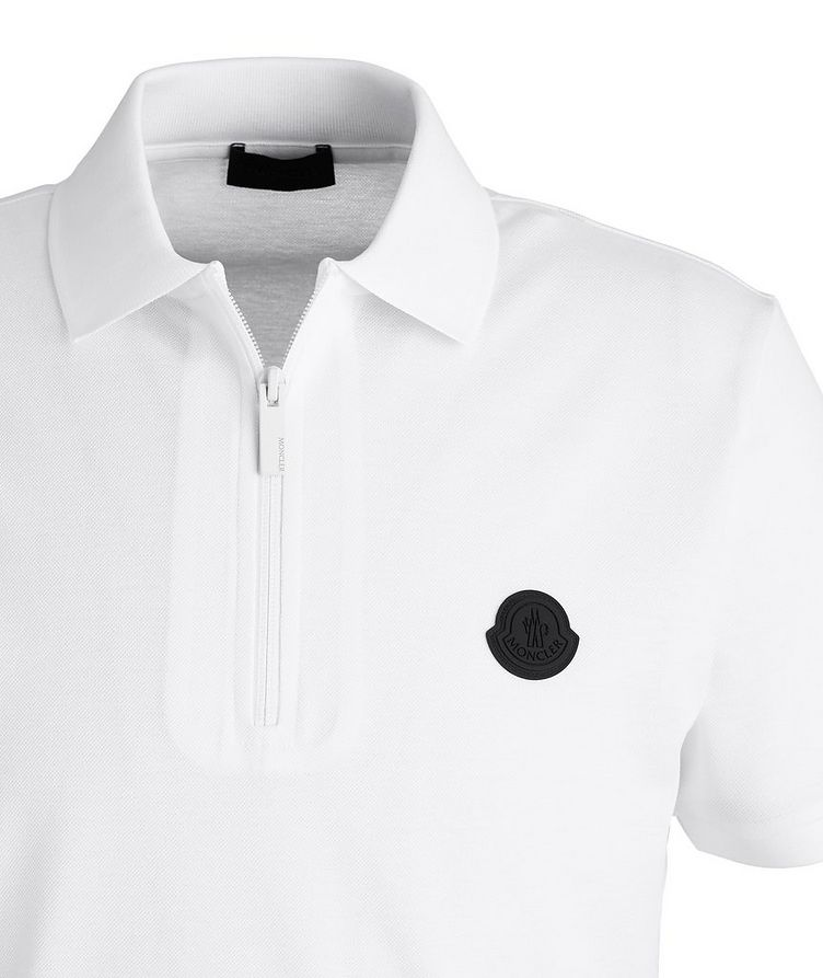 Quarter-Zip Cotton Piqué Polo image 2