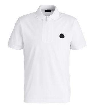 Moncler Quarter-Zip Cotton Piqué Polo