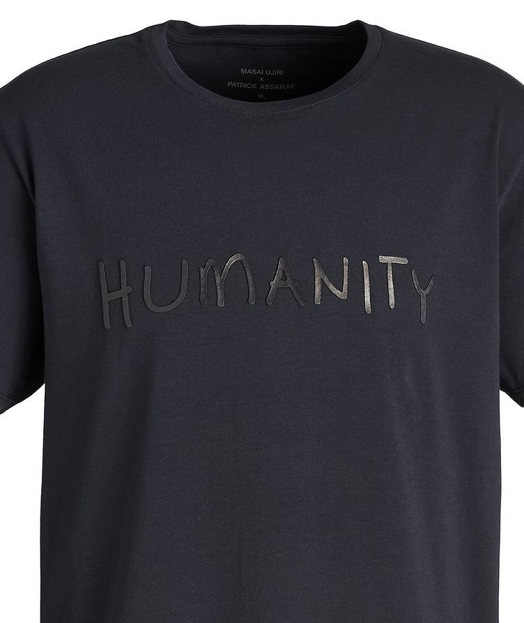 Navy HUMANITY Stretch-Cotton T-Shirt image 2