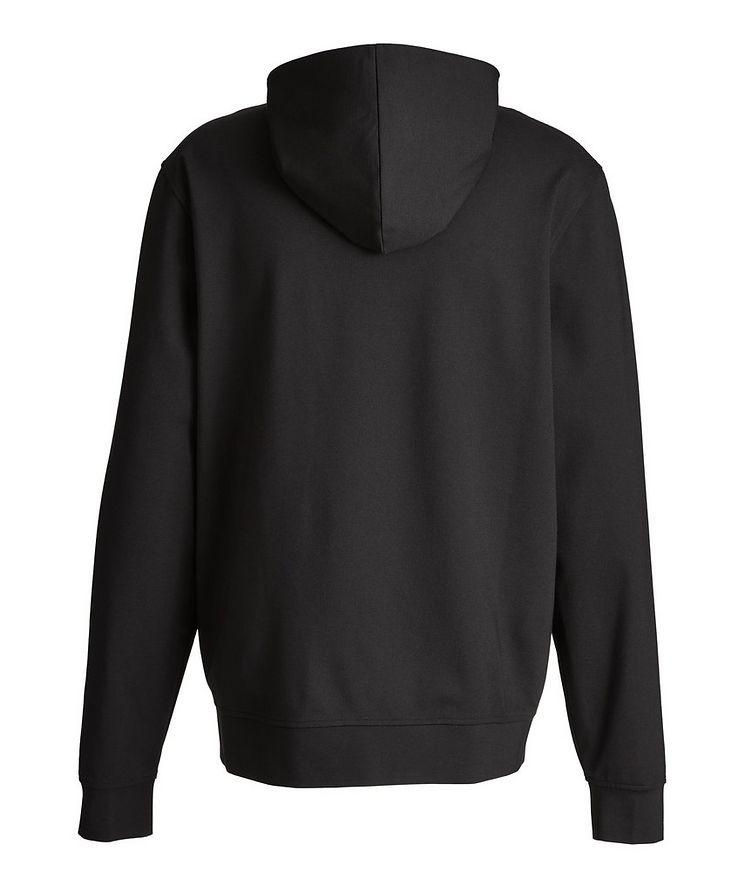 Black Zip-Up Jersey Hoodie image 2