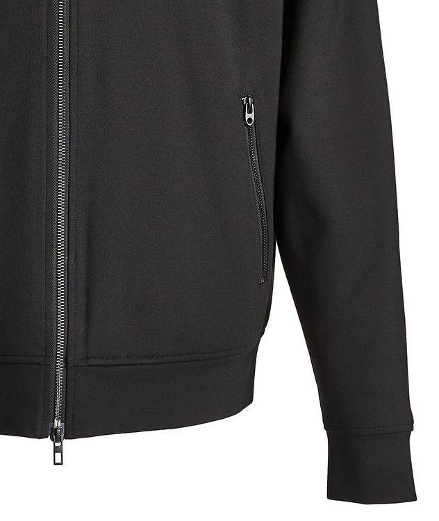 Black Zip-Up Jersey Hoodie picture 4