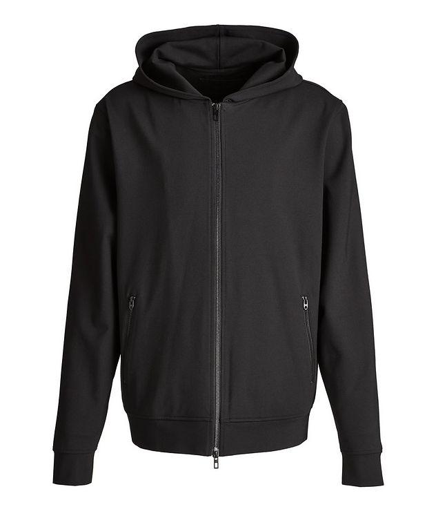 Black Zip-Up Jersey Hoodie picture 1