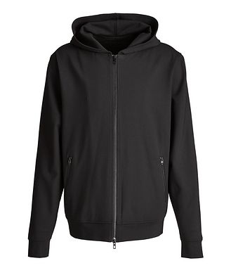 MASAI UJIRI x PATRICK ASSARAF Black Zip-Up Jersey Hoodie