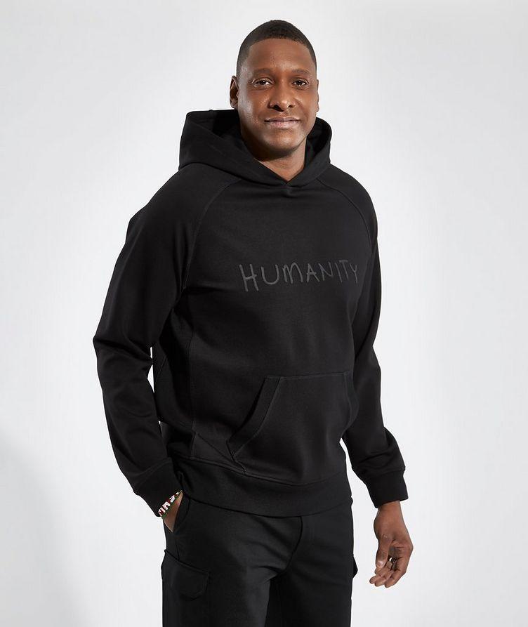 Black HUMANITY Jersey Hoodie image 1