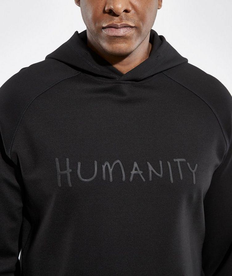 Black HUMANITY Jersey Hoodie image 3