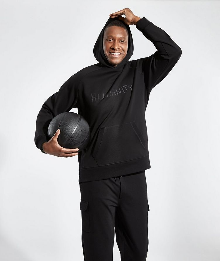 Black HUMANITY Jersey Hoodie image 4